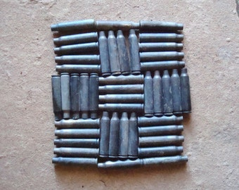 44 Empty Dark Patina Brass 223 Rifle Bullet Shell Casings  - Reclaimed Supplies for Assemblage, Altered Art or Sculpture