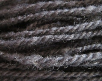 Black blend of Lincoln and Corriedale Yarn