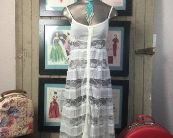 On sale 1970s maxi dress 70s bohemian dress boho wedding dress size x small Vintage dress prairie dress
