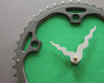 Bicycle Gear Clock - Grass Green  |  Bike Clock  | Wall Clock | Recycled Bike Parts Clock