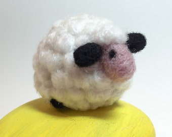 Needle Felted White Sheep Lamb