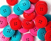 SALE 30 gorgeous buttons just under 1inch
