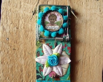 """Altered Mouse Trap """"Fairies"""", Mixed Media, Art, Ornaments FREE SHIPPING!!"""