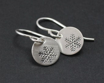 Tiny Snowflake Earrings