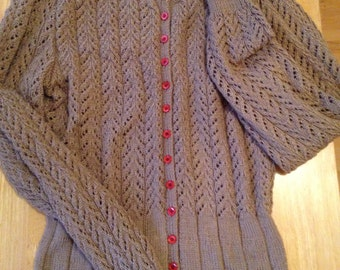 MADE TO ORDER. Vintage repro cardigan made from 1949 pattern