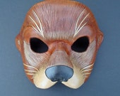 RESERVED for Anna... custom Venetian Otter leather mask