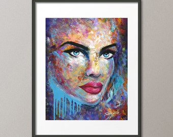 Gallery Canvas and Fine Art Prints Graffiti Street Pop Figurative Femme Fatale Portrait People Woman Contemporary Modern Abstract