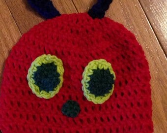 Hungry Caterpillar Beanie Caterpillar Hat Hungry Caterpillar Beanie- all sizes newborn through adult