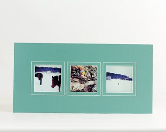 instagram collage photo mat fits 10x20 frame multi opening custom color
