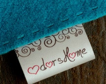 30mm Wash care satin labels sew on personalized labels textile tag fabric labels clothing tag 100 pcs