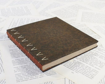 Large Leather Spine Hardcover Journal