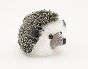 Stuffed Hedgehog Stuffed Animal Hemingway the Cute Plush Toy Grey Hedgehog Kawaii Plushie Fluffy Snuggly Faux Fur Toy Small 4x5 Inches