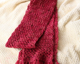 Adult Scarf: Red Tones