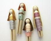 Pastel Pocket Clothes Pin Dolls Car & Travel Toys for Girls Fashion Dolls