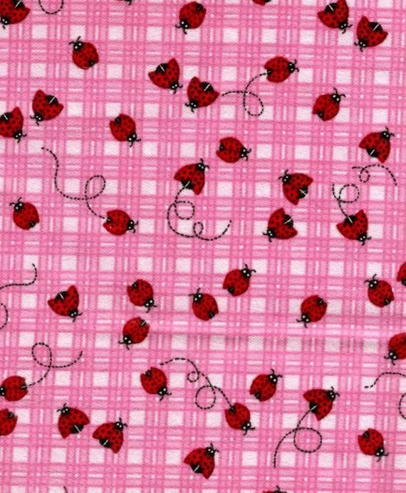 Lady Bug Flannel Cotton Fabric  (Last One)