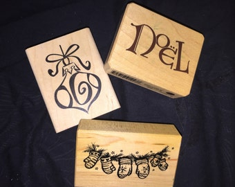 Christmas Rubber Stamp Lot