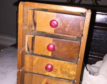 Vintage Wood Deck-of-Cards Box