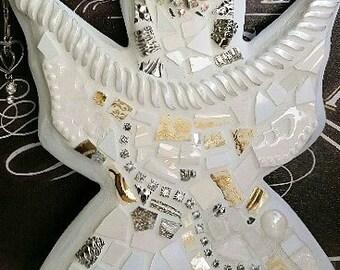 Mosaic Angel-- Jeweled -One of a kind Mosaic