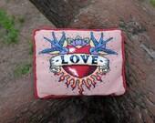 Love Tattoo Cross Stitch Kit - large