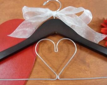 Bride Dress Hanger - Wooden Bride Hangers - Bridal Shower Gifts for Bride - Wedding Coat Hanger - Bride Hanger - Photo Props - Bridal Gift
