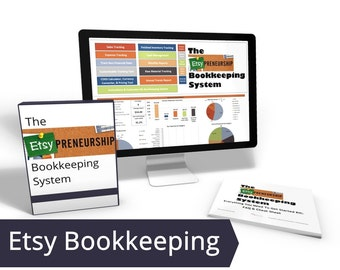 Etsy Bookkeeping, DIY Accounting, Inventory Tracker, Etsy Revenue, Expense Spreadsheet Sheet, Income Spreadsheet, Sales Tracker Excel Income