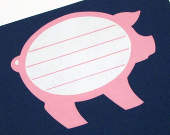 10 Vintage Pig Stickers - Canning Labels - Name Tags - Classroom stickers - Pork Stickers - Farm Animal - Butcher Stickers