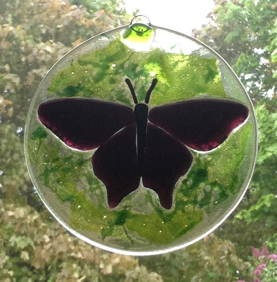 Purple Butterfly Suncatcher