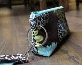 Zipper Pouch Clutch Wallet - Long Wallet - Cell Phone Case - Passport - Errand Runner - Evening Bag - Zip Fabric Wallet - Wristlet
