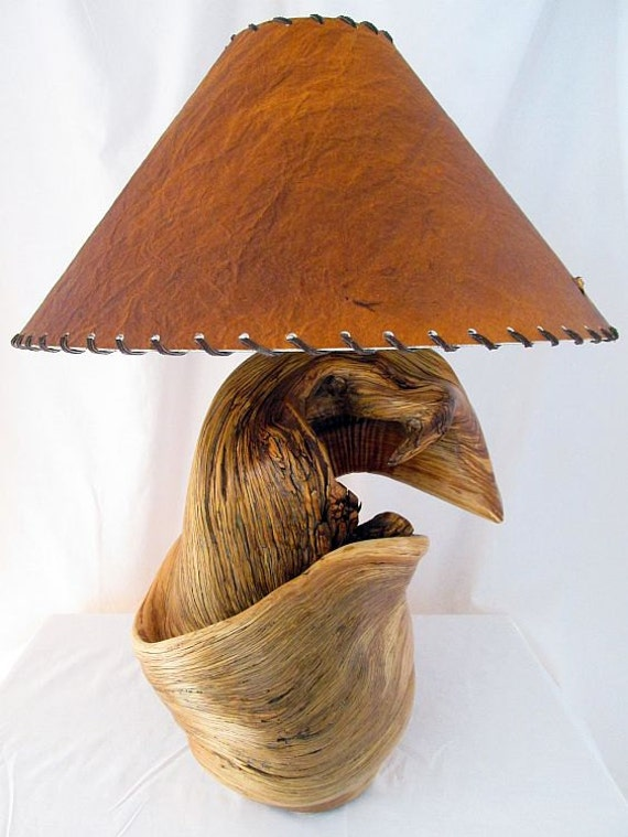 Juniper Wood Rustic Table Lamp Lighting Rockymountaintwist