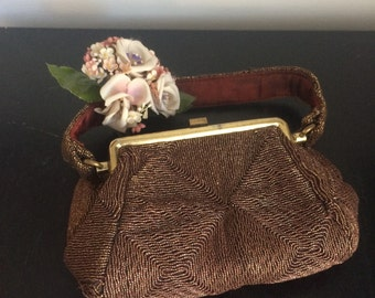 Vintage Bronze Cord Bag