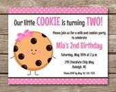 PRINTABLE Cookie Party Invitation, Milk And Cookies Invitation, Cookie Decorating Party, Cookie Birthday Invitation