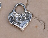 Tiny Heart inscribed Heal in Sterling Silver, 361d