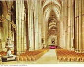 Vintage postcard, The Nave, Canterbury Cathedral, England, UK, 1979