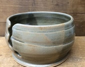 Small Slate Gray Ceramic Yarn Bowl