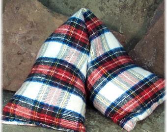 Large Heat Wrap, Moist Heat Pad, Neck Heat Pad, Assorted Plaid Fabrics