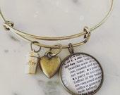 Coffee Charm Bracelet - Personalized Definition Jewelry - Caffeine Addict - Coffee Lover - Stacked Bangle