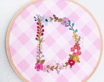Hand Embroidered D