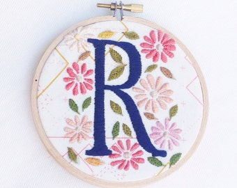 Embroidered R Monogram