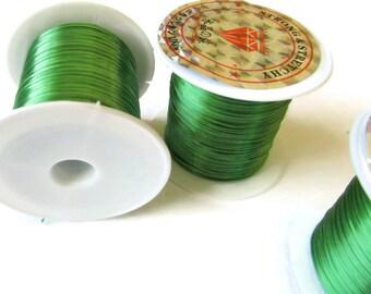 Three Rolls Elastic Cord 0.8mm Green Elastic Thread 10 Meters per roll of elastic beading wire