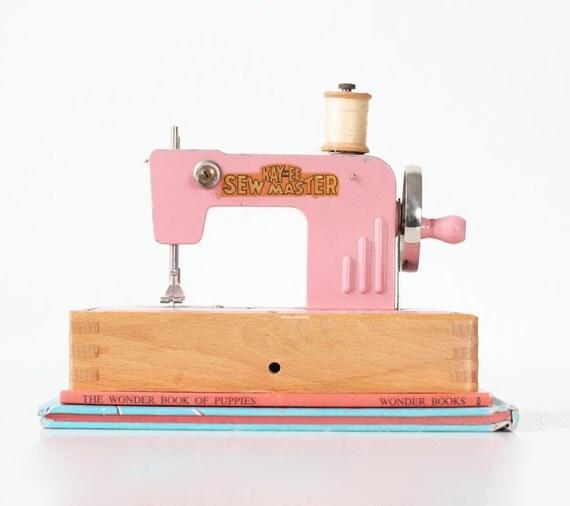 vintage pink sewing machine