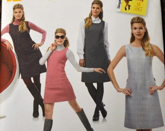 Sewing Pattern Simplicity 1252 Misses' Jumper Dress  Size 14-22, Bust 36-44 Inches Complete UNCUT