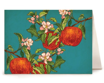 Apples on Branches - Box Set of 8 Folding Cards