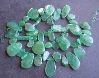 Amazing Designer Strand of Chrysoprase semiprecious gemstone beads - Full Strand 15 1/2 inches