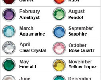 Add a birthstone to any purchased item