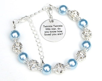Girls Charm Bracelet, Twinkle Twinkle Little Star, Daughter Gift, Gift for Girl, Girls Bracelet, Father Daughter Gift, Goddaughter Gift