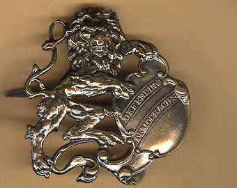 vintage lion appliques antique metal embellishment lions with bendable prongs decorative lions TWO lion findings
