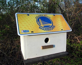 MBA Golden State Warriors Vanity License Plate Birdhouse