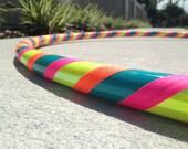 Beginner Hula Hoop // Neon Handmade Fitness Hoop