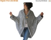 50% CLEARENCE Chunky Light Gray Casual Cardigan