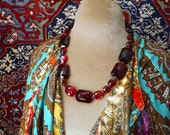Bohemian Baroque: deep wine red faceted glass bold dramatic romantic